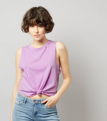 Purple Knot Front Tank Top