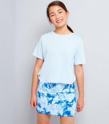 Teens Blue Tie Dye Tube Skirt