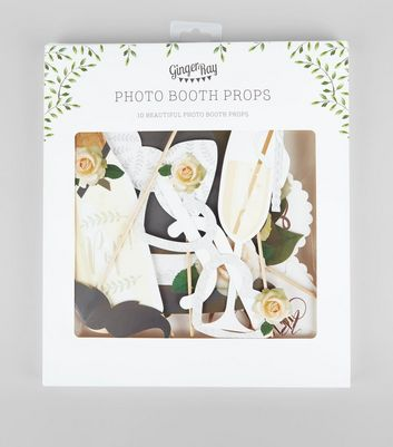Cream Wedding Photo Booth Prop Pack