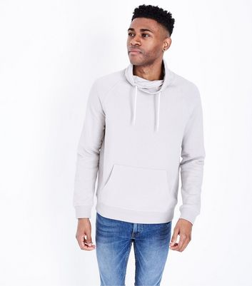 Pale Grey Funnel Neck Sweater