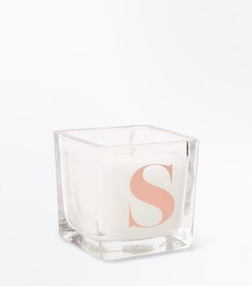 Rose Gold S Initial Candle