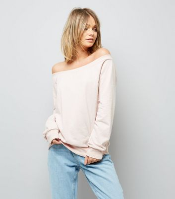 Pink Bardot Neck Sweater
