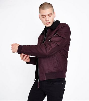 Burgundy Aviator Jacket