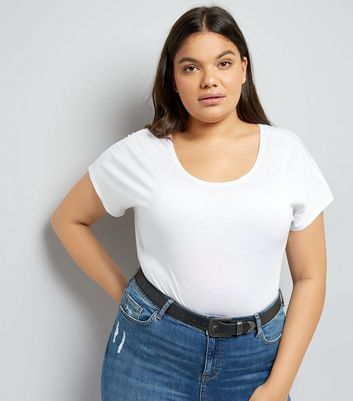 Curves White T-Shirt