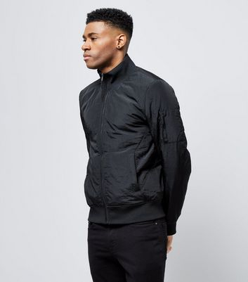 Black Funnel Neck Jacket