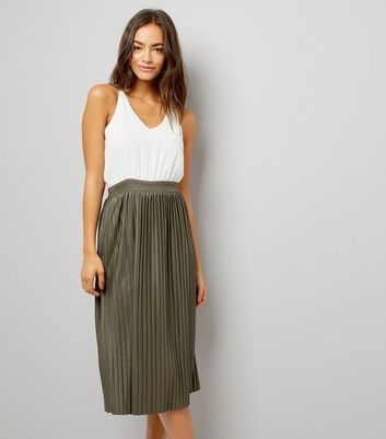 AX Paris Khaki Pleated Skirt Dress