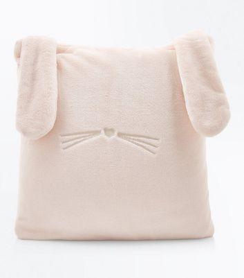 Shell Pink Fluffy Bunny Cushion