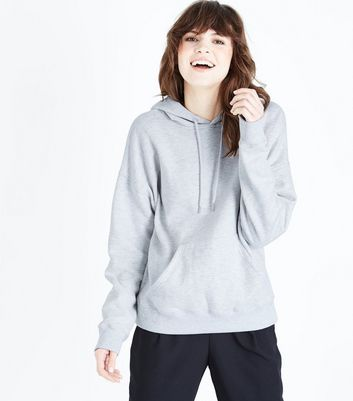 Sweat à capuche oversize gris clair