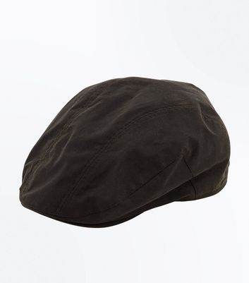 Khaki Washed Canvas Flat Cap