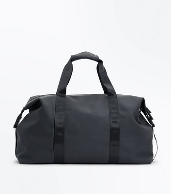 Black Rubber Coated Holdall