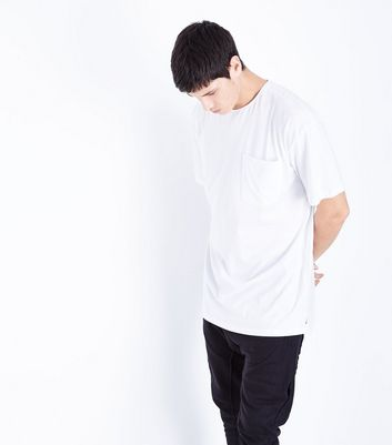 White Pocket Front Boxy T-Shirt
