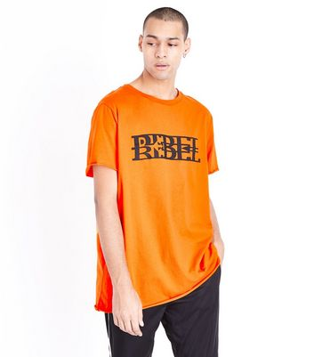 Orange Rebel Print T-Shirt