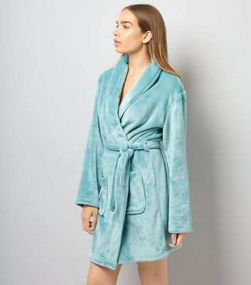 Turqoise Fluffy Robe
