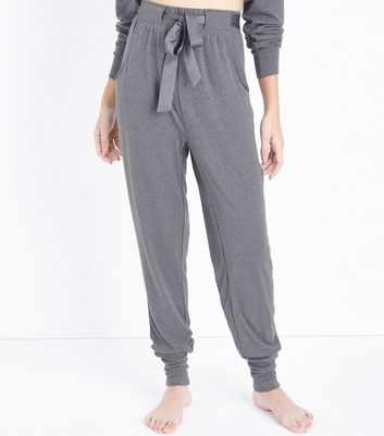 Tall Satin Belt Brushed Jersey Pyjama Joggers
