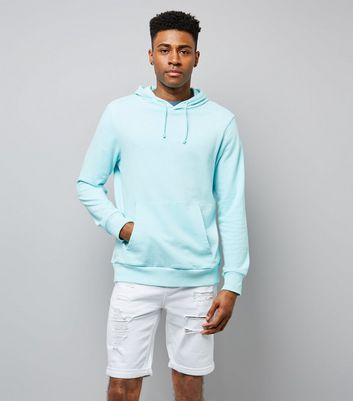 Mint Green Washed Pocket Front Hoodie