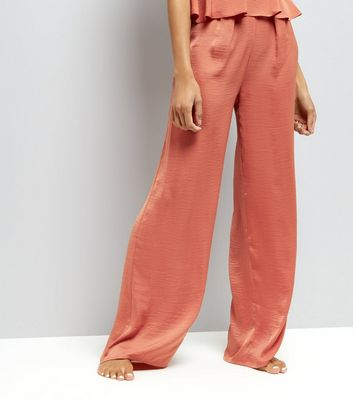 Tall Pink Wide Leg Pyjama Trousers