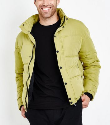 Green Short Puffer Jacket