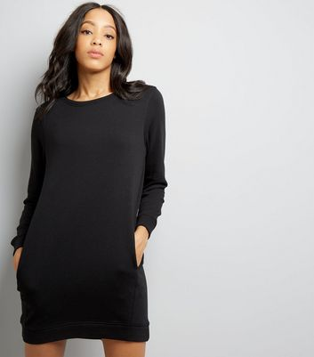 Black Sweatshirt Dress