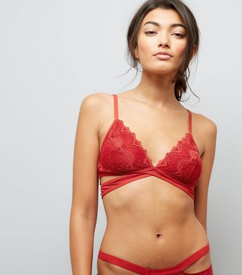 Red Lace Strappy Bralet