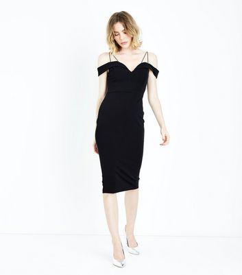 Ax Paris Black Strappy Midi Dress by New Look