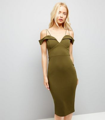 AX Paris Khaki Strappy Midi Dress