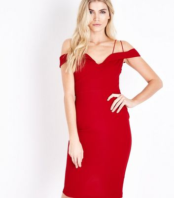 AX Paris Red Strappy Midi Dress