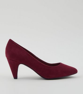Comfort Burgundy Cone Court Shoes