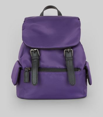 Purple Double Buckle Mini Backpack