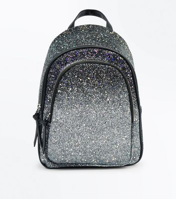 Silver Ombre Glitter Mini Backpack