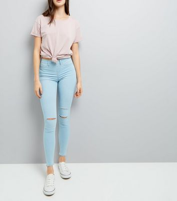 Blue Ripped Jeggings