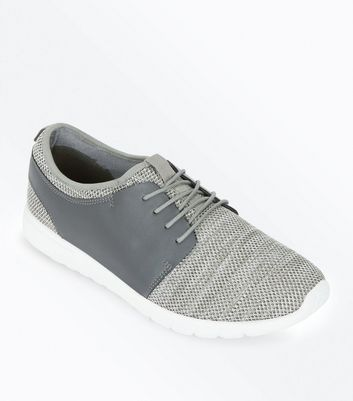 Grey Textured Trainers