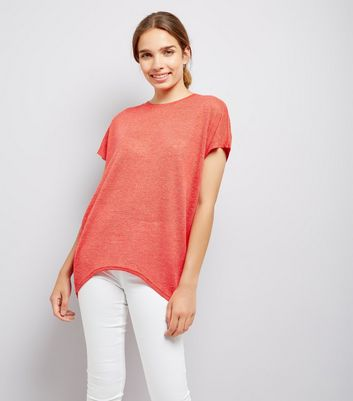 Red Lattice Back T-Shirt