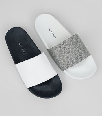 2 Pack White Sliders
