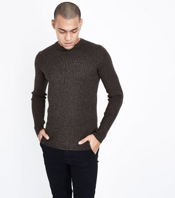 Burgundy Cotton Ribbed Jumper