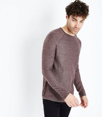 Burgundy Stitch Trim Jumper
