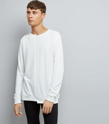 Off White Spliced Sweater