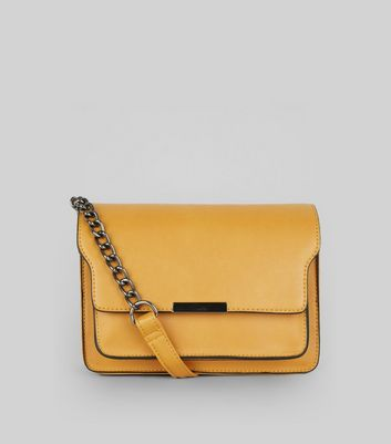 Yellow Chain Shoulder Bag