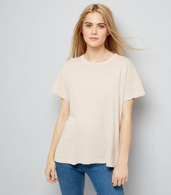 Light Brown Distressed Edge T-Shirt