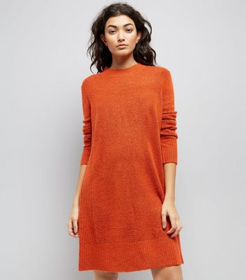 JDY Red Long Sleeve Knitted Dress