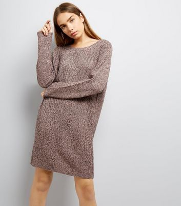 JDY Purple Cable Knit Jumper Dress