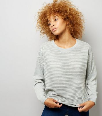 JDY Grey Ribbed Jumper
