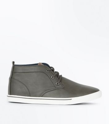 Grey Hi Top Trainers