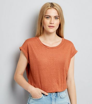 Light Brown Linen T-Shirt