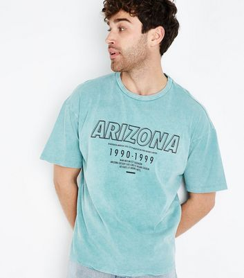 Green Acid Wash Arizona Printed T-Shirt