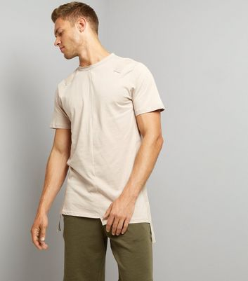 Stone Tape Front Spliced T-Shirt