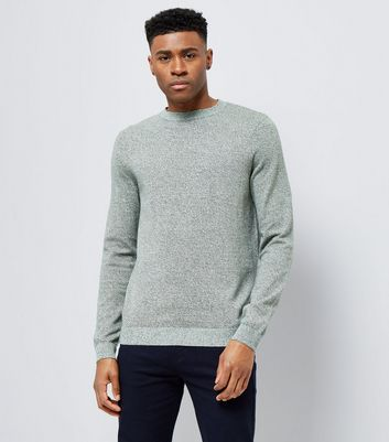 Green Cotton Crew Neck Jumper