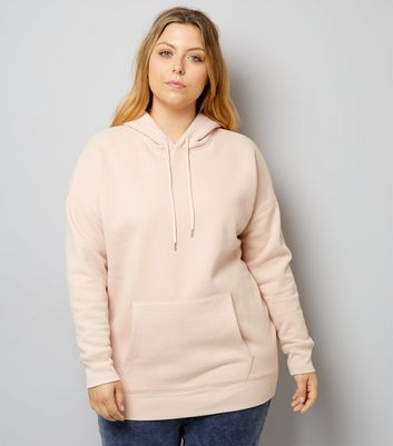 Curves Pink Oversized Hoodie
