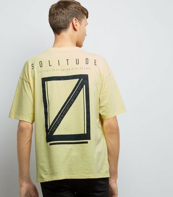 Yellow Acid Wash Solitude Print T-Shirt