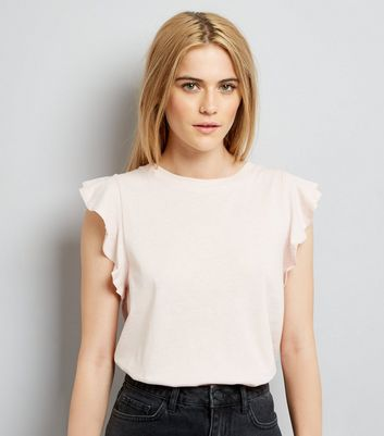 Pink Frill Shoulder Top