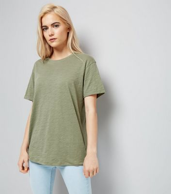 Olive Green Organic Cotton Short Sleeve T-Shirt